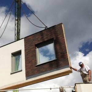 duboplus duurzaam bouwen en isoleren prefab gevel montage